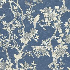 Ralph Lauren Wallpaper LWP66516W Marlowe Floral Cornflower