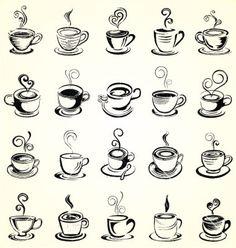 Modelo de Caneca de Café com Pires