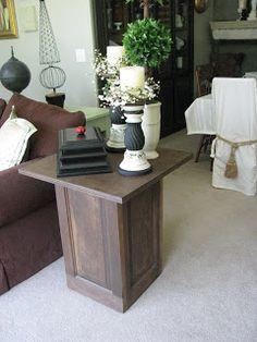 End table built with door panels @JOYS OF HOME: furniture I a-door