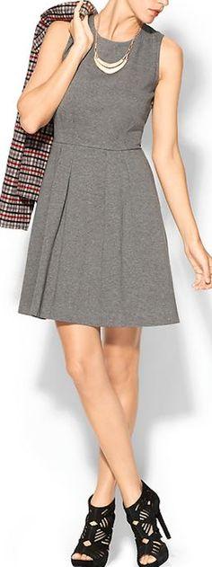 pretty grey ponte dress http://rstyle.me/~3nRFF