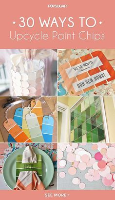 Don't throw away those colorful paint chops — upcycle them! These super easy DIY project will add tons of color to your home decor game.