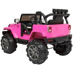 $239.94 BestChoiceproducts Best Choice Products 12V Ride On Car Truck W/ Remote Control, 3 Speeds, Spring Suspension, LED Lights Pink Kmart