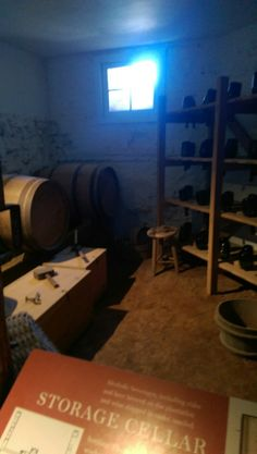 We are at Mickey's Tavern. This is a storage room.