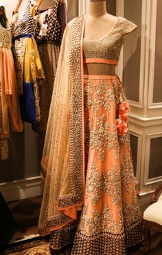 So now that you saw what the Vogue Wedding show had to offer in part 1 of this series, lets take you to the rest of the stalls we spotted with our good friends, the photography team of Camera Waale Ba. Indian Bridal Fashion, Indian Bridal Wear, Red Lehenga, Lehenga Choli, Sari, Bridal Lehenga, Indian Attire, Indian Ethnic Wear, Hindus