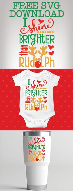FREE Instant SVG Download for Christmas Crafts. I Shine Brighter Than Rudolf Christmas Cricut Cutting File #SVG #SVGCutFile #SVGCuttingFile #CricutFiles #Cricut #CricutCutFiles Cricut Vinyl, Svg Files For Cricut, Cricut Fonts, Christmas Svg, Christmas Projects, Cricut Baby Shower, Silhouette Cameo Projects, Vinyl Projects, Mad
