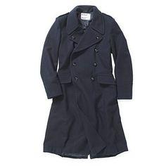 Navy great coat - Trench coats & macs - Coats & jackets - Men -