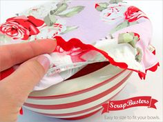 ScrapBusters: Fabric Bowl Covers | Sew4Home