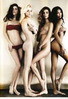 Miss Freja: Jessica Stam, Hilary Rhoda, Chanel Iman and Erin Wasson for i-D, Pre-Spring 2011