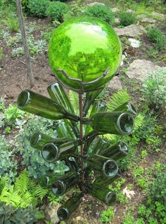 Gazing ball tree - this website has numerous other bottle tree options.