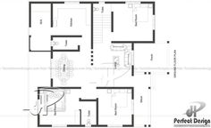 Single floor house plan designed to be built in 130 square meters Home Design Plans, Plan Design, House Plans One Story, First Story, Square Meter, House Extensions, My House, Floor Plans, House Design