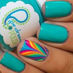 Fun Summer nails Neon nails and black studs Image via Bright Neon Green Nails Image via Cute summer bright nail designs Image via bright nails Image via Bright summer man Fingernail Designs, Nail Polish Designs, Nail Art Designs, Nails Design, Fancy Nails, Love Nails, Diy Nails, Fabulous Nails, Gorgeous Nails