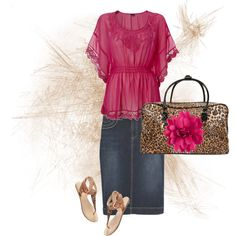 Pink and Cheetah, created by audreyfultz18 on Polyvore
