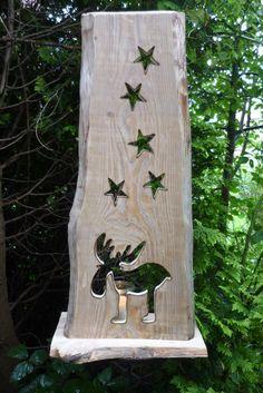 Holzbrett - Advent - Elch -Aufsteller - Kerzenschein ♥ von Annegret Lindhorst : Holz- Kreativ auf DaWanda.com