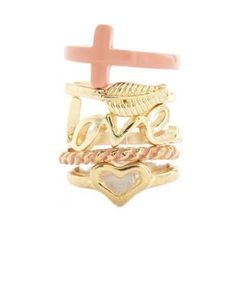 Its a cute stackable ring you can rock with anythinh
