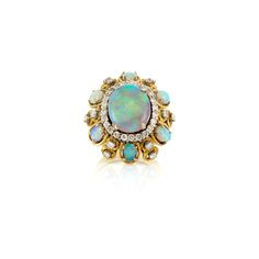 Opal and Diamond Ring for Sale at Auction on Thu, - - Fine Jewelry & Contents of Abandoned Safe Deposit Boxes from Bank of America Gemstone Jewelry, Jewelry Box, Jewelry Rings, Vintage Jewelry, Jewelry Accessories, Fine Jewelry, Jewlery, Women Jewelry, Bling