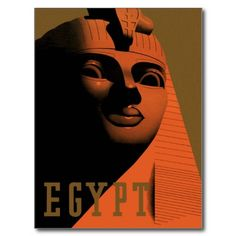 Vintage Travel Poster, Egypt, Africa with Sphinx Post Cards