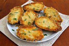 Parmesan Crusted Potatoes...cheesy, crispy and so easy to prepare!  by The Fountain Avenue Kitchen