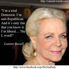 I'm a total Democrat.