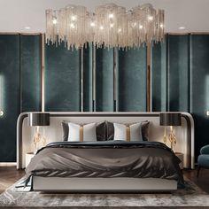 Modern Luxury Bedroom, Luxury Bedroom Design, Bedroom Bed Design, Luxurious Bedrooms, Master Bedroom, Custom Furniture, Furniture Design, Interior Walls, Interior Design
