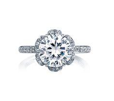 A.JAFFE   Statement Diamond Petal Engagement Ring