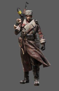 ArtStation - Soviet soldier, Tang Da