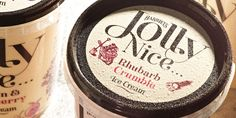 Pretty enough to eat! Harriet's Jolly Nice IceCream - The Dieline -