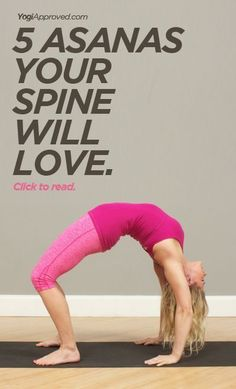 5 yoga poses for your spine - http://YogiApproved.com #yoga #yogi #asana