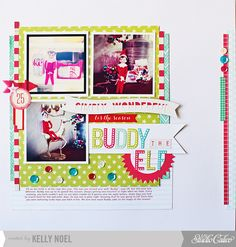 Great Elf on the Shelf layout for December Daily.