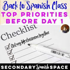 Extra credit ideas for spanish classes other foreign languages too back to spanish class top priorities before day 1 secondary spanish space fandeluxe Image collections