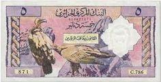 Ancien Billet de 5 Dinars Algérien...f2