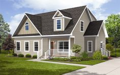 How to add a porch to a cape cod style house this is for Dormered cape