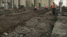RAILROAD FIND: Crews Unearth Piece Of History