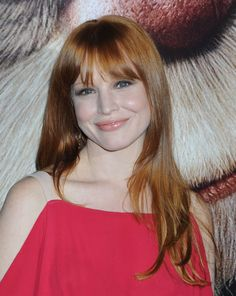 Lauren Ambrose long hairstyle with bangs