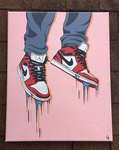 Small Canvas Paintings, Small Canvas Art, Mini Canvas Art, Jordan Logo Wallpaper, Nike Wallpaper, Jordan Painting, Sneaker Posters, Sneakers Wallpaper, Cute Canvas