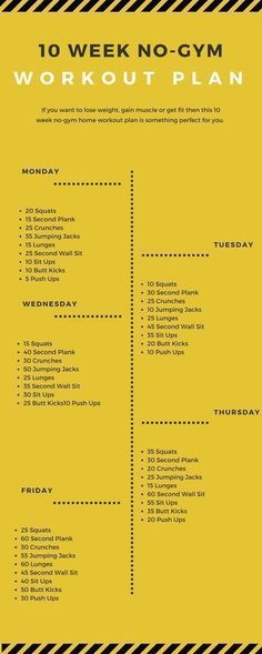 10 Week no Gym #Workout Plan! #LoseWeight & Keep It Off! #Fitspo