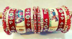 Exclusive Bridal Chura Hand Accessories, Bridal Accessories, India Jewelry, Ethnic Jewelry, Bangle Set, Bangle Bracelets, Chuda Bangles, Wedding Chura, Designer Bangles