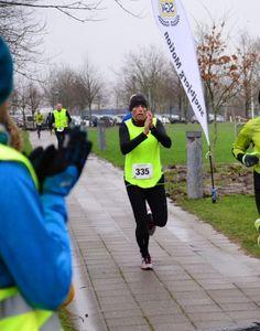 Målstregen!! Nytårshalvmarathon 31/12-15 Tid 1:36