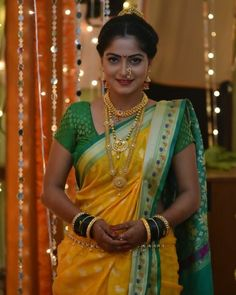 Marathi Saree, Marathi Bride, Marathi Nath, Kashta Saree, Sarees, Saree Blouse, Lehenga, Nauvari Saree, Indian Wedding Fashion