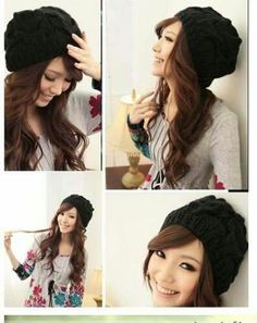 Fashion Women Warm Winter Beret Braided Baggy Beanie Crochet Knitting HA Be dac389bba