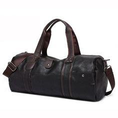 f43f3b22ddc2 Fashion Men Leather Travel Bag Large Capacity Duffle Handbag Famous Brand  Quality Luggage Messenger sac a main bolsa XA386H