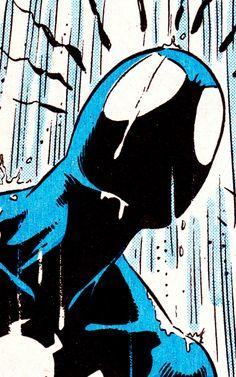 B L A C K S U I T S P I D E Y in Web Of Spider-Man #31 - Mike Zeck (Pencils), Bob McLeod (Inks) & Janet Jackson (Colors)