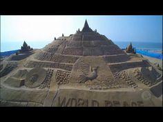 Alemanha tenta bater recorde mundial de maior castelo de areia do mundo