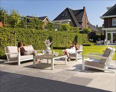 Block Loungeset wit ! | Buitenhof