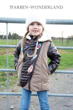 7Farben-Wunderland: Carlita kommt!!! Vest, Jackets, Fashion, Poplin, Light Jacket, Mandarin Collar, Cotton, Wonderland, Cowl