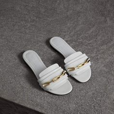 Shop new-season runway prints and signature details on Burberry sandals for women. Bling Sandals, Shoes Flats Sandals, Leather Sandals, Shoe Boots, Patent Leather, Heels, Dr Scholls Sandals, Clearance Shoes, New Shoes