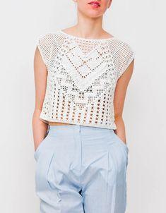 Lauren Moffatt Crochet Crop Top