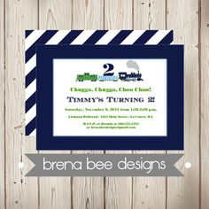 Personalized  Timmy the Train  Navy Blue Green by brenabeedesigns, $12.75 ... Full party collection also.