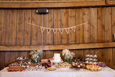 sweet table with banner