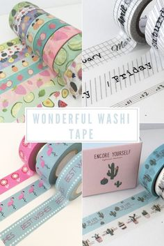 Washi tape products are one of the most popular trends in the crafting world right now. This low tack, decorative tape can be used to add both pattern and colour to almost any project including scrapbooking, card making, upcycling and so much more!.