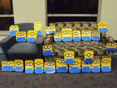 Cute minions to display student's work.